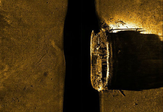 Szonárfelvétel Sir John Franklin egyik hajójáról (Fotó: hirado.hu/EPA/Parks Canada)