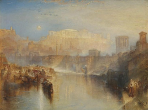 Joseph Mallord William Turner: Ancient Rome; Agrippina Landing with the Ashes of Germanicus (A kép forrása: tate.org.uk)