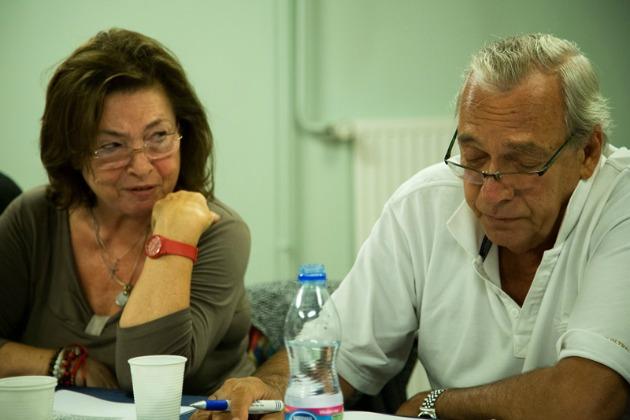 Szabó Éva és Benedek Miklós az olvasópróbán (Fotó: Nyírő László)