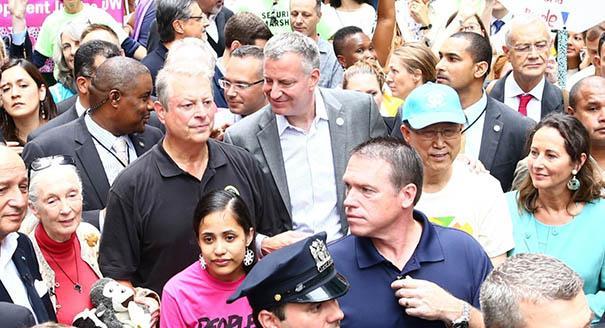 Al Gore, Bill de Blasio és Ban Ki-Moon (Fotó: M.Scott Mahaskey/POLITICO)