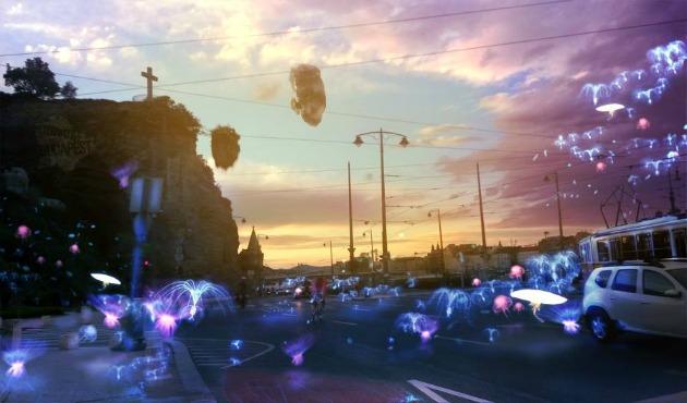 Repülő medúzák a Gellért téren (2014)