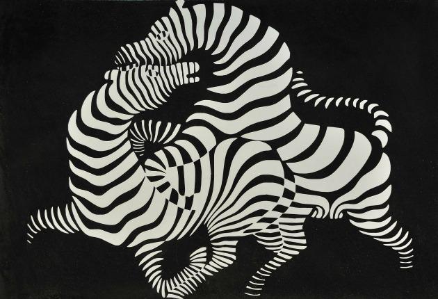 Vasarely: Zebra, 1938