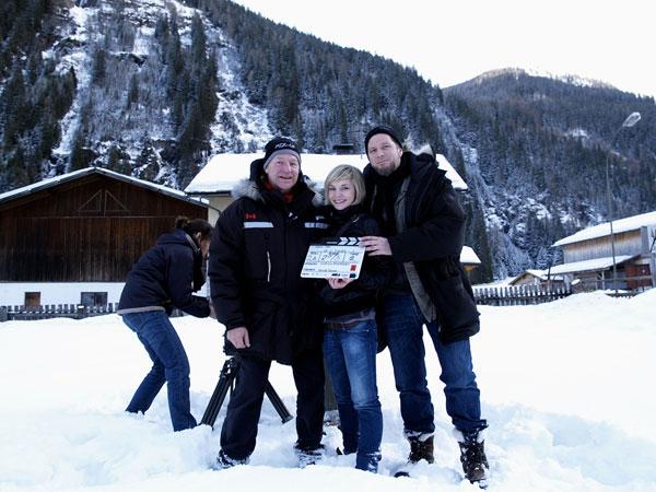 A Három nap múlva halott vagy című horrorfilm forgatásán 2008-ban - Andreas Prochaska a jobb oldalon (Fotó: virtual-history.com)