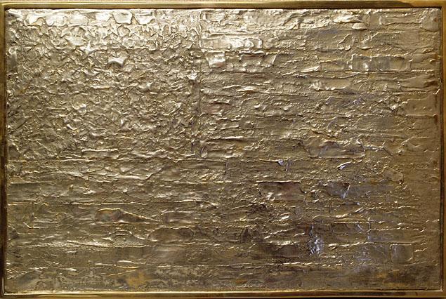 Jasper Johns Flag című művének hamisított bronz öntvénye (Fotó: Manhattan US Attorney's Office)