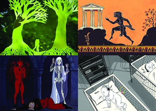 Jelenetek Jankovics Marcell animációs filmjéből (Forrás: alfahir.hu)