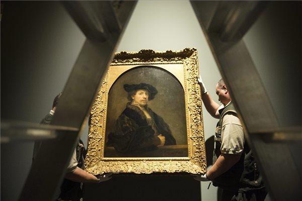 Rembrandt: A festő önarcképe harmincnégy éves korában (MTI Fotó: Koszticsák Szilárd)