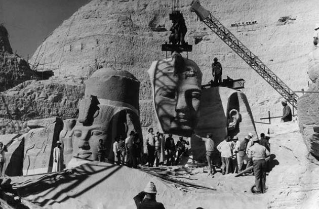 A núbiai emlékek mentése Egyiptomban (Fotó: unesco.org)