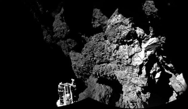 A Philae robot a 67P/Csurjumov-Geraszimenko üstökös fedélzetén. (Fotó: hirado.hu/ESA/Rosetta/Philae/CIVA)