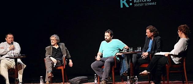 Egy korábbi KP vita: Vidnyánszky Attila, Ascher Tamás, Schilling Árpád, Oberfrank Pál, Veiszer Alinda (Fotó: hu.wikipedia.org)