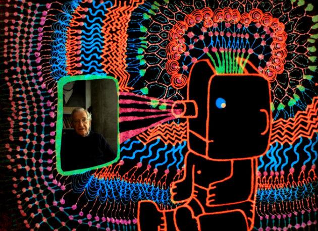 Animált beszélgetés Noam Chomskyval