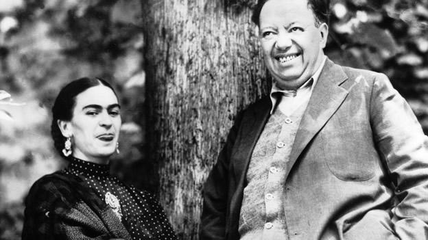 Frida Kahlo és Diego Rivera (Fotó: wordpress.com)
