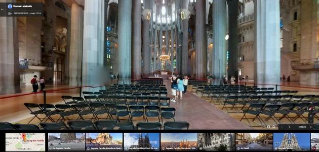 A Sagrada Familia belülről