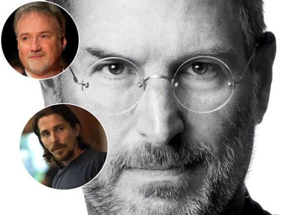 David Fincher és Christian Bale - az eredeti Steve Jobs-film eredeti elképzelésben (Fotó: blogs.indiewire.com)