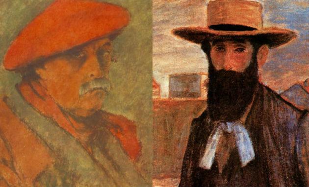 Rippl-Rónai önarcképe és az általa festett portré Aristide Maillolról (a képek forrása: Wikipedia)