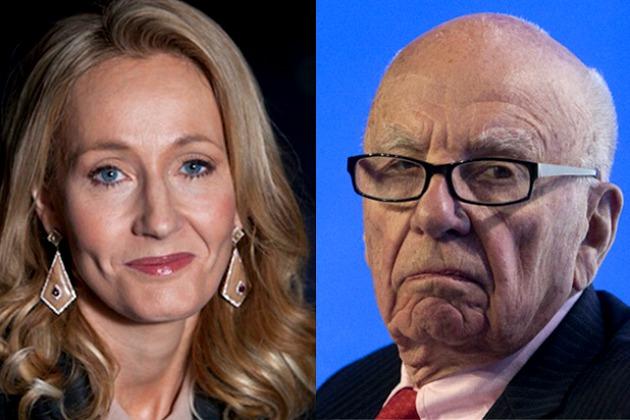 J. K. Rowling és Rupert Murdoch (Fotó: thewrap.com)