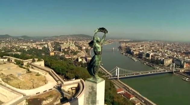 Drónfotó Budapestről (Forrás: erdekesvilag.hu)