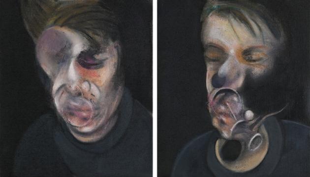 Bacon: Két tanulmány önarcképre (Forrás: Sotheby's / artdaily.org)