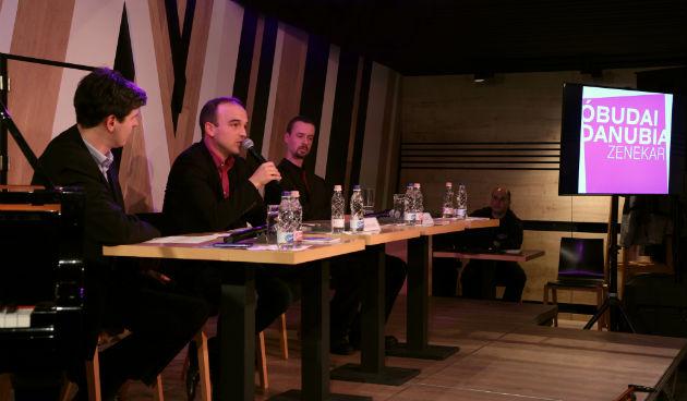 Az Óbudai Danubia Zenekar sajtótájékoztatója (Fotó: Sándor András / Kultúrpart)