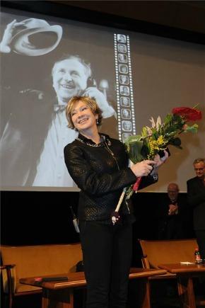 Udvaros Dorottya a díjátadón (MTI Fotó: Kelemen Zoltán Gergely)