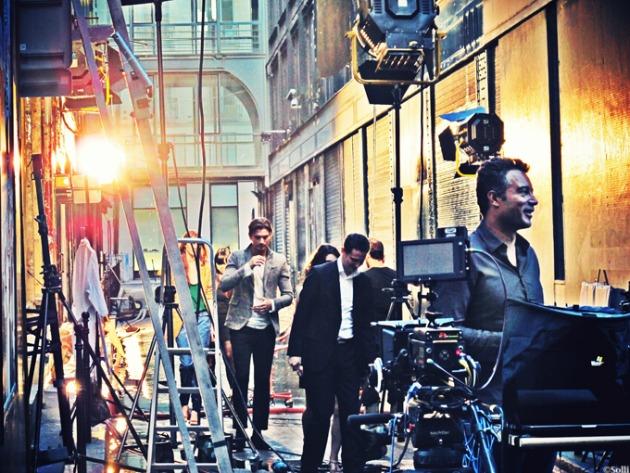 Párizsi filmforgatás (Fotó: solli-kanani.com)