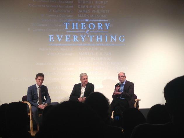 Beszélgetés A mindenség elmélete vetítése után - Anthony McCarten középen (Fotó: sydinthedistrict.wordpress.com)