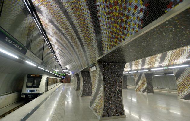 A Szent Gellért téri állomás (MTI Fotó: Máthé Zoltán)