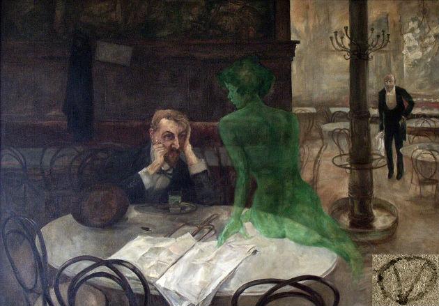 Az abszint, avagy a zöld tündér, ahogyan Viktor Oliva látta