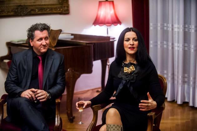 Ókovács Szilveszter, a Magyar Állami Operaház főigazgatója és Angela Gheorghiu világhírű szoprán (MTI Fotó: Marjai János)