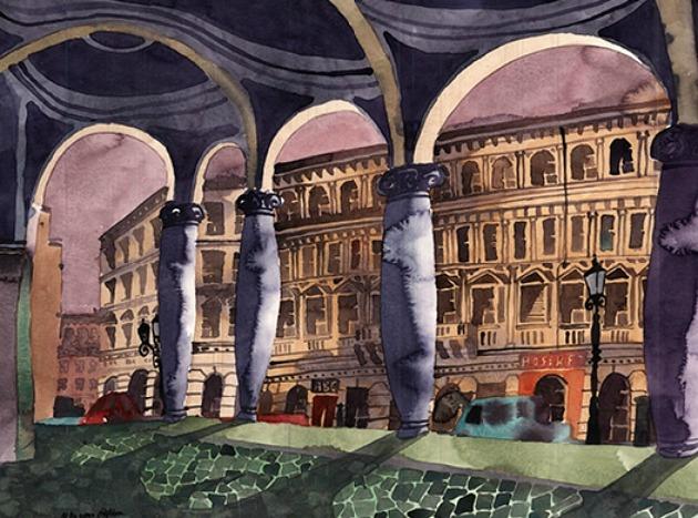 Marcus Goldson: Az Opera árkádjai (Forrás: marcusgoldson.co.uk)
