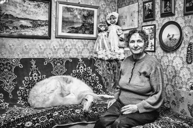 75 éves Ludmilla, művészettörténész - Egész életemben restaurációs munkákat végeztem, emellett pedig agarakat tenyésztettem és neveltem fel (Fotó: Keen Heick-Abildhauge)
