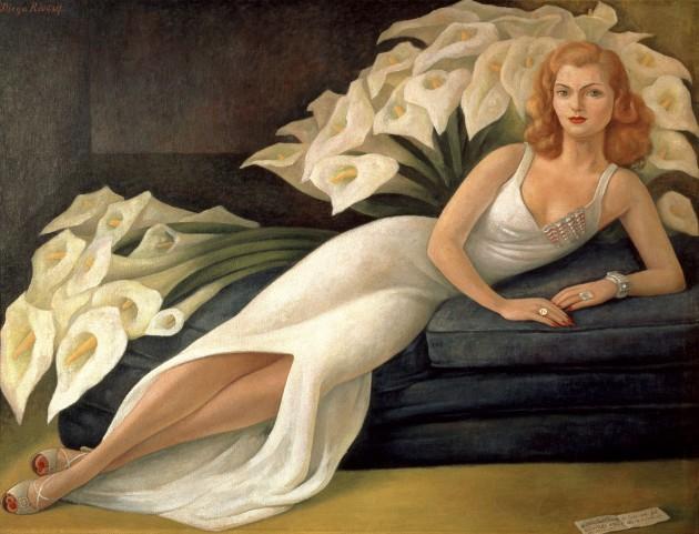 Diego Rivera: Natasha Gelman portréja (Forrás: nsuartmuseum.org)