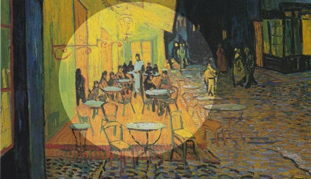 Vincent van Gogh: Éjjeli kávéház (Forrás: huffingtonpost.com)