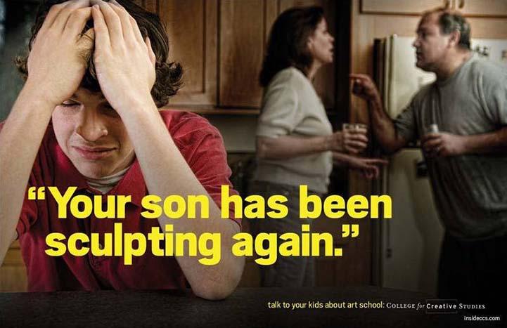 A fiad megint szobrászkodott!