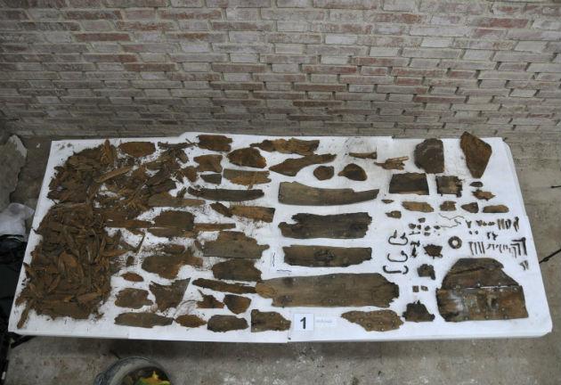 anuár 26-án közzétett felvétel a trinitáriusok kolostorának kápolnája alatti kriptában talált maradványokról. (Fotó: hirado.hu/EPA/Madrid Region)