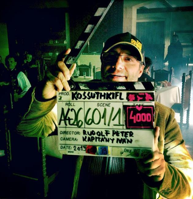 Rudolf Péter, rendező és a 4000-es csapó (Fotó: Kossuthkifli Facebook oldal)