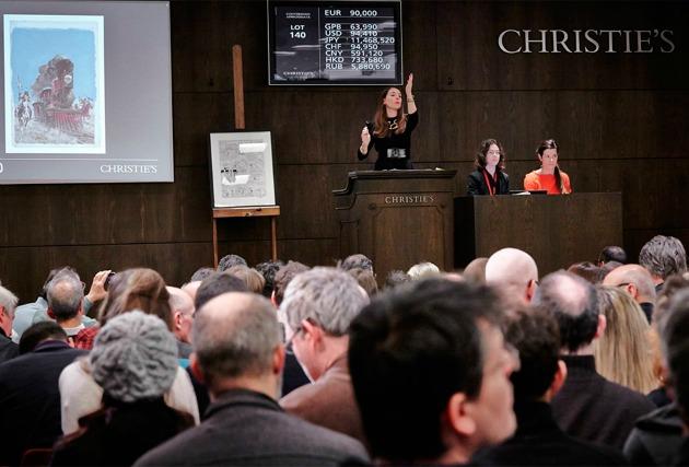 A hétvégi aukció (Fotó: Christie's Images Ltd 2015./artdaily.org)