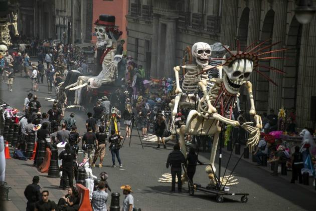 Forgatás Mexikóváros utcáján (Fotó: fusion.net)