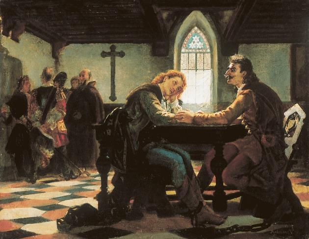 Madarász Viktor: Zrínyi es Frangepán a bécsújhelyi börtönben, 1864, Magángyűjtemény