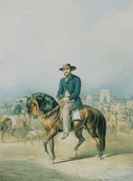Sterio Károly: Gróf Széchenyi István lóháton, 1857, Kovács Gábor Gyűjtemény