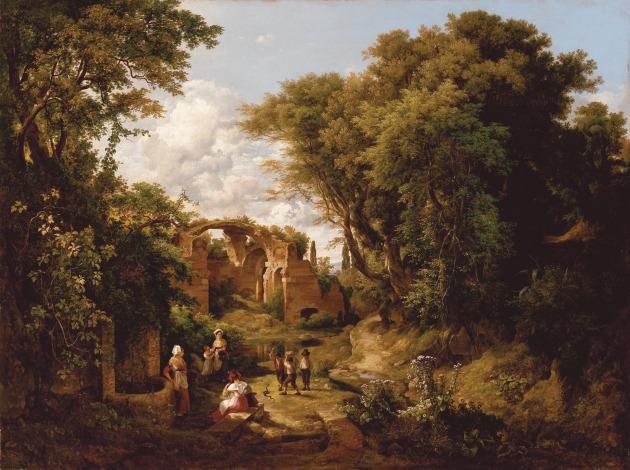 id. Markó Károly: Asszonyok a kútnál, 1836, Kovács Gábor Gyűjtemény