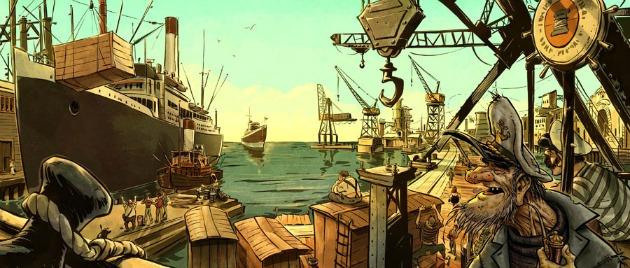 A San Franciscó-i kikötő (Cserkuti Dávid látványterve, forrás: valasz.hu)