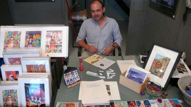 Marcus Goldson a Ráday utcai boltjában (Fotó: varosban.blog.hu)