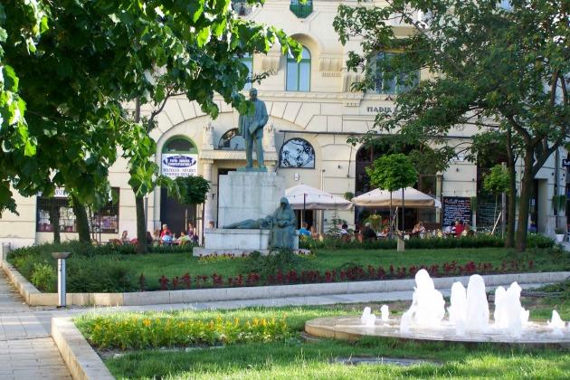 Az egyik központi helyszín: Gárdonyi tér a Bartók Béla úton