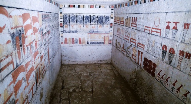 Szábi festett sírkamrája (Fotó: EPA/Egyiptomi Régészeti Minisztérium)
