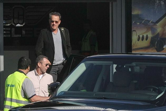 Tom Hanks Budapesten (Fotó: MTI/Kallos Bea)