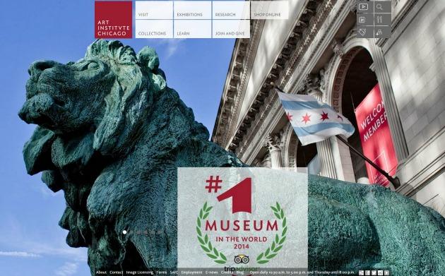 Az Art Institute of Chicago honlapja is a győzelmet hirdeti