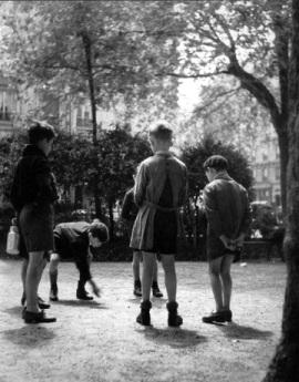 Ervin Marton: Gyerekek játék közben, 1950 körül