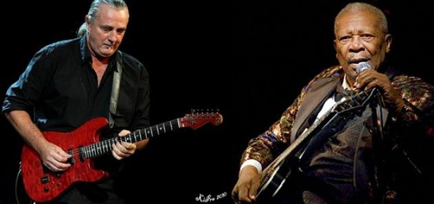 Tátrai Tibor és B. B. King (Fotó: hardrock.hu)