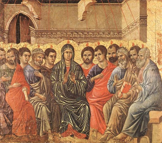 Duccio di Buoninsegna: A Szentlélek eljövetele, 1308-1311 (Forrás: wikimedia.org)
