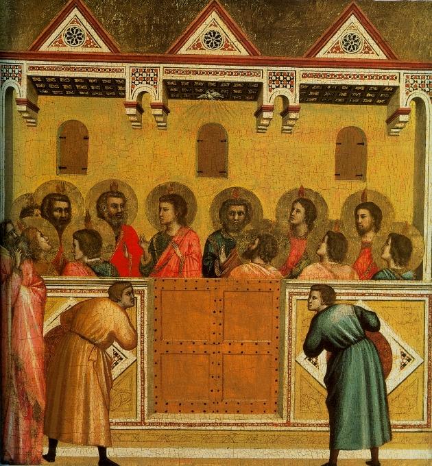 Giotto di Bondone: Pünkösd, 1320-1325 körül (Forrás: wikipedia.org)
